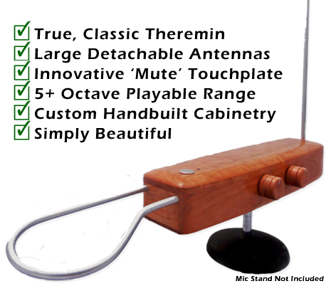 B3 Pro Theremin - Beautiful to the eye and the ear.